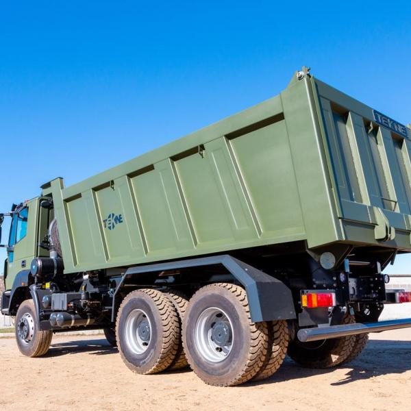 The tipper body is mounted on ASTRA heavy duty HD9